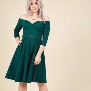 Modcloth Twirl Me What You Think A-Line Dress